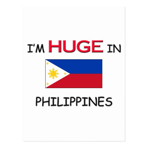 Soy ENORME en FILIPINAS Tarjeta Postal