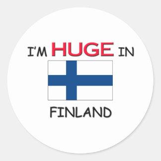Soy ENORME en FINLANDIA Etiqueta Redonda