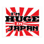 Soy enorme en Japón Tarjeta Postal