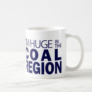Soy enorme en la región del carbón taza de café