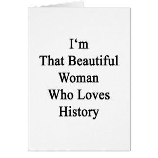 Soy esa mujer hermosa que ama historia felicitaciones