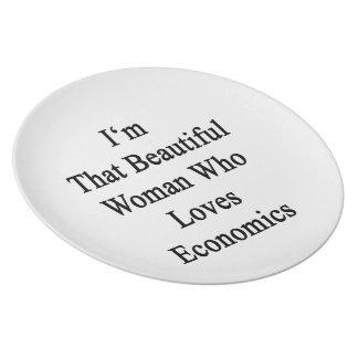 Soy esa mujer hermosa que ama la economía platos de comidas
