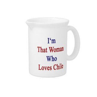 Soy esa mujer que ama Chile Jarra Para Bebida