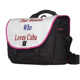 Soy esa mujer que ama Cuba Bolsas De Ordenador