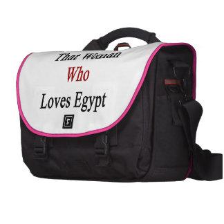 Soy esa mujer que ama Egipto Bolsa De Ordenador