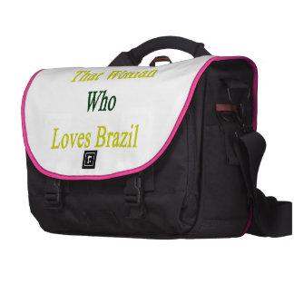 Soy esa mujer que ama el Brasil Bolsa Para Ordenador