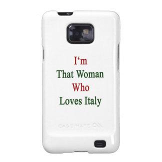 Soy esa mujer que ama Italia Galaxy S2 Fundas