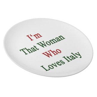 Soy esa mujer que ama Italia Plato De Cena