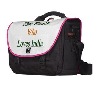 Soy esa mujer que ama la India Bolsas De Ordenador
