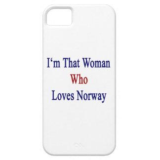 Soy esa mujer que ama Noruega iPhone 5 Case-Mate Carcasa