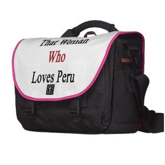 Soy esa mujer que ama Perú Bolsas De Portátil
