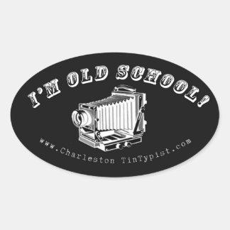 ¡Soy escuela vieja! Pegatina Ovalada