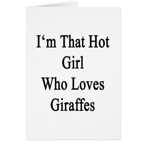Soy ese chica caliente que ama jirafas tarjeta pequeña