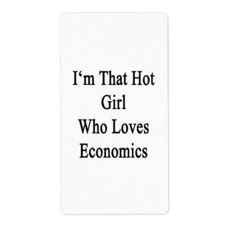 Soy ese chica caliente que ama la economía etiquetas de envío