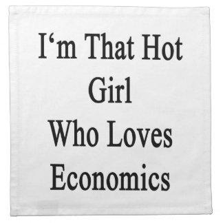 Soy ese chica caliente que ama la economía servilleta de papel