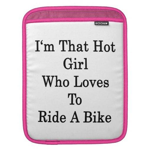 Soy ese chica caliente que ama montar una bici mangas de iPad