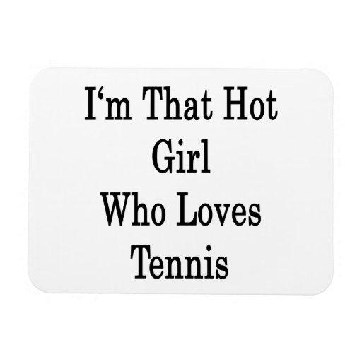 Soy ese chica caliente que ama tenis imanes de vinilo