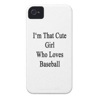 Soy ese chica lindo que ama béisbol iPhone 4 Case-Mate fundas