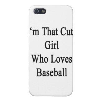 Soy ese chica lindo que ama béisbol iPhone 5 carcasa
