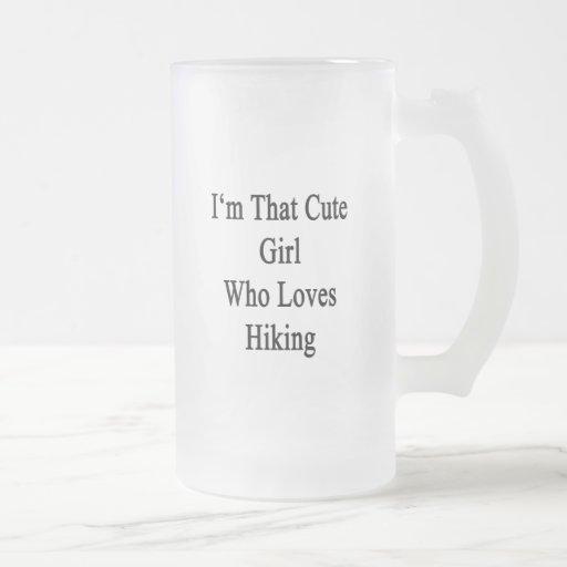 Soy ese chica lindo que ama el caminar taza de café