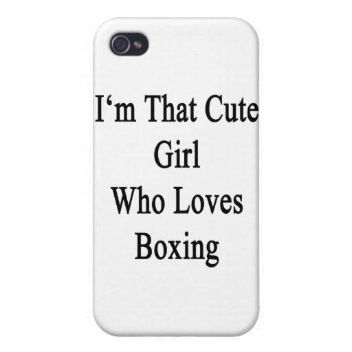 Soy ese chica lindo que ama el encajonar iPhone 4 cárcasas