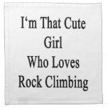 Soy ese chica lindo que ama la escalada servilletas imprimidas
