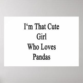 Soy ese chica lindo que ama pandas impresiones