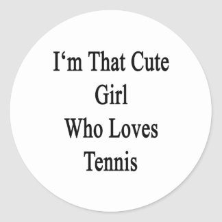 Soy ese chica lindo que ama tenis pegatina redonda