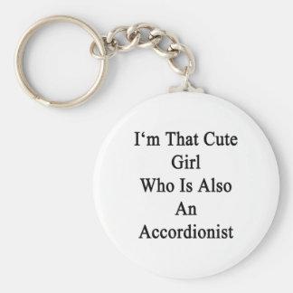 Soy ese chica lindo que es también acordeonista llavero