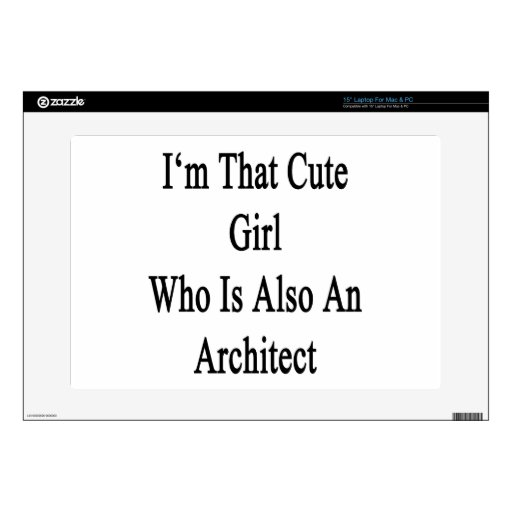 Soy ese chica lindo que es también arquitecto calcomanía para 38,1cm portátil