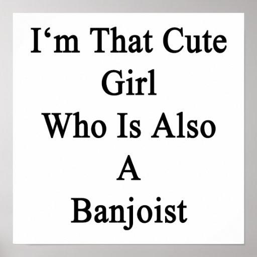 Soy ese chica lindo que es también Banjoist Poster