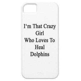 Soy ese chica loco que ama curar delfínes iPhone 5 funda
