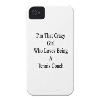 Soy ese chica loco que ama el ser coche de tenis iPhone 4 Case-Mate fundas