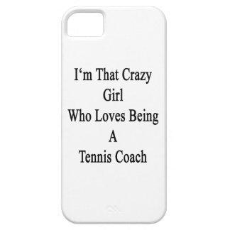 Soy ese chica loco que ama el ser coche de tenis iPhone 5 funda