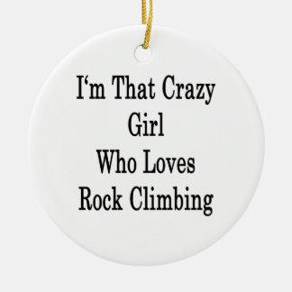 Soy ese chica loco que ama la escalada ornamentos de reyes magos