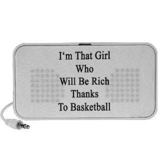 Soy ese chica que será gracias ricos a Basketbal iPhone Altavoces