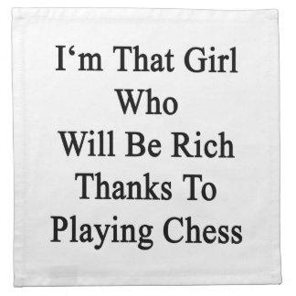 Soy ese chica que será gracias ricos a jugar C Servilletas De Papel