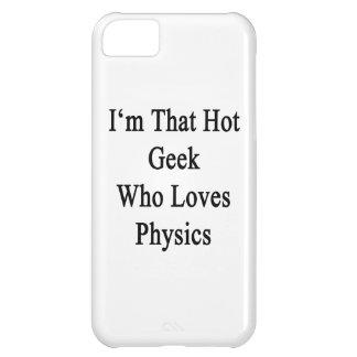 Soy ese friki caliente que ama la física funda para iPhone 5C