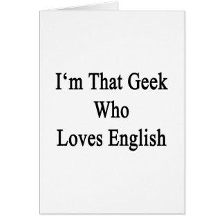 Soy ese friki que ama inglés tarjetas