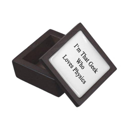 Soy ese friki que ama la física caja de joyas de calidad