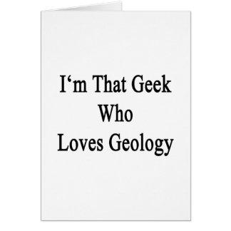 Soy ese friki que ama la geología tarjetas