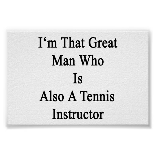 Soy ese gran hombre que es también instructor del  póster