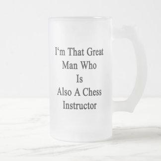 Soy ese gran hombre que es también instructor del taza de cristal
