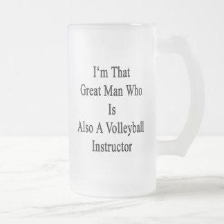 Soy ese gran hombre que es también un voleibol taza cristal mate