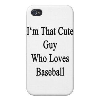 Soy ese individuo lindo que ama béisbol iPhone 4 coberturas