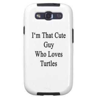 Soy ese individuo lindo que ama tortugas galaxy s3 carcasas
