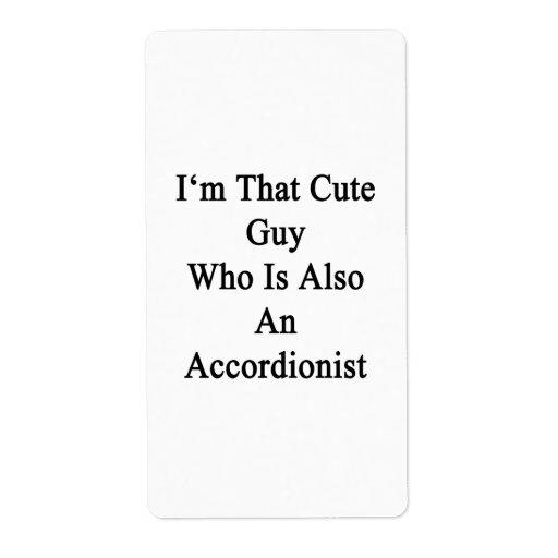 Soy ese individuo lindo que es también acordeonist etiqueta de envío