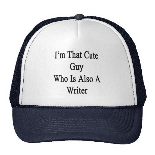 Soy ese individuo lindo que es también escritor gorras de camionero