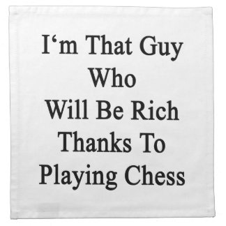 Soy ese individuo que será gracias ricos a jugar e servilleta de papel