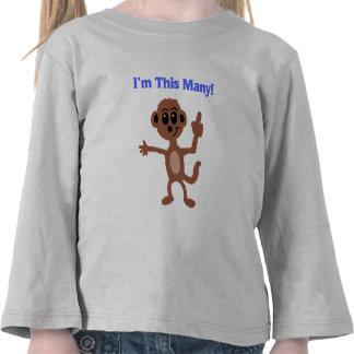 Soy estos muchos camiseta del mono